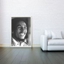 Bob Marley, Rastafari, Jamaican music, Decorative Arts, Prints & Posters,Wall Art Print, Poster Any Size - Black and White Poster